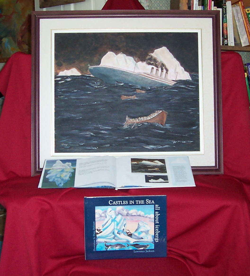 Sinking of the Titanic - Oil Painting, 1997.